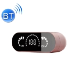 Pro20 Mirror Display HIFI Sound Quality 5.0 Bluetooth Headphone Support Touch Control(Pink)