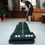 TL010 Indoor Golf Adjustable Slope Push Rod Practice Home Velvet Practice Blanket(Single Exercise Device English Packaging)