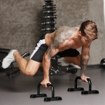 H-Type Push-Up Bracket Chest Exercise Fitness Equipment(Black )