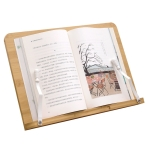 NG3002 Bamboo Wood Reading Frame Copy Frame Wooden Reading Frame,Version: 3W 1.0 23 x 34cm