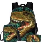 16-inch ZZ12 3 PCS / Set Child Dinosaur School Bag Kindergarten Pupils Backpack