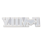 2 PCS DIY Crystal Epoxy Silicone Letter Mold(Positive Letter MD3315_FAMILY Mold)