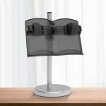 NG3051 Lifting Reading Rack Children Multifunctional Reading Bookshelf Mobile Phone Tablet Stand,Type:  Dual-use (Matte Black)