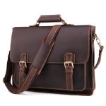 B515 Men 15.6 Inch Business Briefcase Multi-Function Laptop Bag(Dark Coffee)