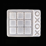 3 PCS DIY Crystal Elastic Chessboard Game Mold Nine Palace Game Chess Word Chess Mold, Specification: MD3921