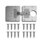 2 PCS Stainless Steel Hinge Repair Installer, Specification: 2 Repair Plates + Hinge + 16 Screws