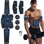 1082 EMS Muscle Training Abdominal Muscle Stimulator Home Fitness Belt(6 Pieces Blue Dot Belt)
