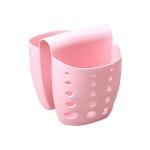 5 PCS TM15016 Saddle Drain Basket Kitchen Sink Sponge Storage Drainage Sink(Pink)