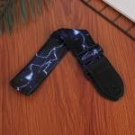 3 PCS Printed Ukulele Guitar Strap, Length: 85-135cm(Blue Flash )