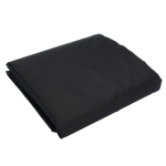 Outdoor Oxford Cloth Furniture Cover Garden Dustproof Waterproof And UV-Proof Table And Chair Protective Cover, Size: 123x61x72cm(Black)