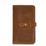 2052 Multifunctional Long Men Wallet Casual Leather Clutch, Colour: Brown