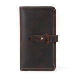 2052 Multifunctional Long Men Wallet Casual Leather Clutch, Colour: Coffee