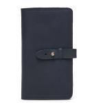 2052 Multifunctional Long Men Wallet Casual Leather Clutch, Colour: Blue