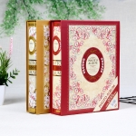 2 PCS 6 Inch 4D 200 Sheets Photo Albums Retro Interstitial With Boxed Album(2203-1 Color Mixed)