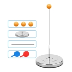 Single Table Tennis Trainer Elastic Flexible Shaft Fixed Ball Training Device, Specification: Stainless Steel With Racket