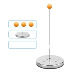 Single Table Tennis Trainer Elastic Flexible Shaft Fixed Ball Training Device, Specification: Stainless Steel Without Racket