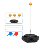 Single Table Tennis Trainer Elastic Flexible Shaft Fixed Ball Training Device, Specification: Black With Racket