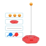 Single Table Tennis Trainer Elastic Flexible Shaft Fixed Ball Training Device, Specification: Red With Racket