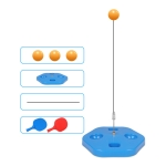 Single Table Tennis Trainer Elastic Flexible Shaft Fixed Ball Training Device, Specification: Blue With Racket