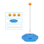 Single Table Tennis Trainer Elastic Flexible Shaft Fixed Ball Training Device, Specification: Blue Without Racket