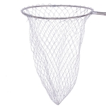 Foldable Stainless Steel Dip Net Head Fishing Net, Specification: Solid 45cm Big Mesh