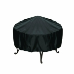 Outdoor Garden Grill Cover Rainproof Dustproof Anti-Ultraviolet Round Table Cover, Size: 142x68cm