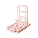 3 PCS TM18011 Dishcloth Sponge Storage Rack Kitchen Rag Drain Rack(Pink)