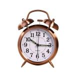 Metal Quality Mute Luminous Alarm Clock Classic Double Bell Clock(Yellow)