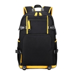 6101-4 Thermal Transfer Casual Backpack Simple Student Schoolbag(Yellow Leather)
