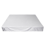 Waterproof And Dustproof Cover For Bathtub Swimming Pool Table And Chair Falling Leaves Protection Cover, Size: 244x244x30cm(Silver)