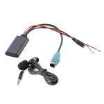 Car AUX Bluetooth Wireless Music Audio Cable + MIC for Alpine Kce-237b 123E 101E 102E 105E 117J 305S