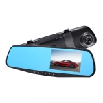 4.5 inch Car Rearview Mirror HD 1080P Single Recording Driving Recorder DVR Support Motion Detection / Loop Recording