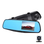 4.5 inch Car Rearview Mirror HD 1080P Double Recording Driving Recorder DVR Support Motion Detection / Loop Recording