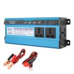 Carmaer 12V to 220V 2200W Three Socket Car Double Digital Display Inverter Household Power Converter