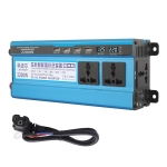 Carmaer 48V to 220V 2200W Three Socket Car Double Digital Display Inverter Household Power Converter
