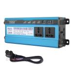 Carmaer 60V to 220V 2200W Three Socket Car Double Digital Display Inverter Household Power Converter