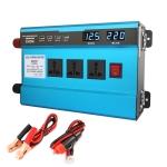 Carmaer 24V to 220V 3000W Intelligent Fan Car Double Digital Display Inverter Household Power Converter