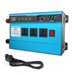 Carmaer 48V to 220V 3000W Intelligent Fan Car Double Digital Display Inverter Household Power Converter