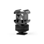 YELANGU A681 Triple Heads Hot Shoe Mount Adapter Flash Holder Bracket (Black)