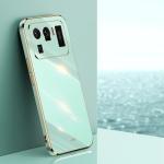 For Xiaomi Mi 11 Ultra XINLI Straight 6D Plating Gold Edge TPU Shockproof Case(Mint Green)