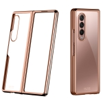 For Samsung Galaxy Z Fold3 5G Symphony Plating PC Shockproof Protective Case(Rose Gold)