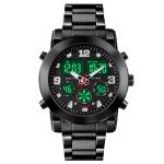 SKMEI 1642 Three-time Display Luminous Electronic Watch, Support Alarm Clock(Black)