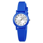 SKMEI 1659 Thin PU Leather Strap Small Dial Quartz Watch for Ladies(Blue)