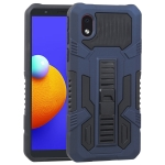 For Samsung Galaxy A01 Core Vanguard Warrior All Inclusive Double-color Shockproof TPU + PC Protective Case with Holder(Cobalt Blue)