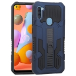 For Samsung Galaxy A11 US Version Vanguard Warrior All Inclusive Double-color Shockproof TPU + PC Protective Case with Holder(Cobalt Blue)