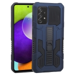 For Samsung Galaxy A52 5G / 4G Vanguard Warrior All Inclusive Double-color Shockproof TPU + PC Protective Case with Holder(Cobalt Blue)