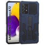For Samsung Galaxy A72 5G / 4G Vanguard Warrior All Inclusive Double-color Shockproof TPU + PC Protective Case with Holder(Cobalt Blue)