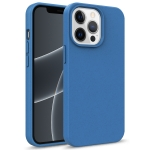 Starry Series Shockproof Straw Material + TPU Protective Case For iPhone 13 Pro Max(Blue)