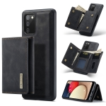 For Samsung Galaxy A02s DG.MING M1 Series 3-Fold Multi Card Wallet + Magnetic Back Cover Shockproof Case with Holder Function(Black)