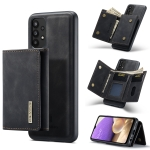 For Samsung Galaxy A32 5G DG.MING M1 Series 3-Fold Multi Card Wallet + Magnetic Back Cover Shockproof Case with Holder Function(Black)